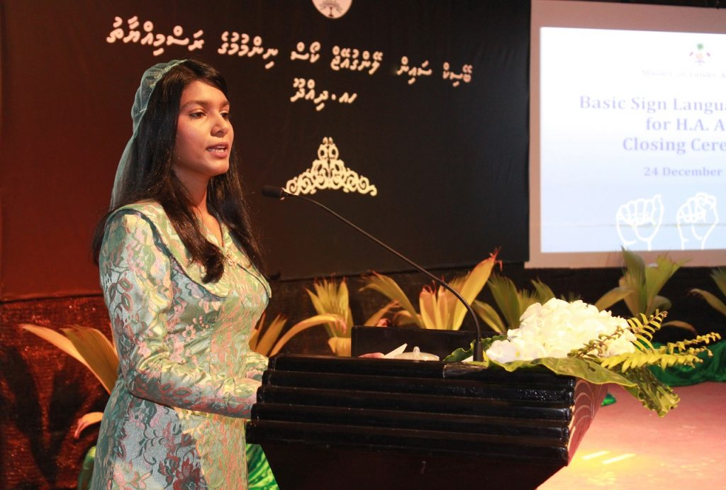Closing ceremony of Basic Sign Language Training for Public Service Providers in HA. Atoll