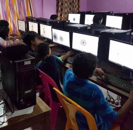 Showcasing work of Multimedia and Web Designing Course by Children of Kudkudhinge Hiya