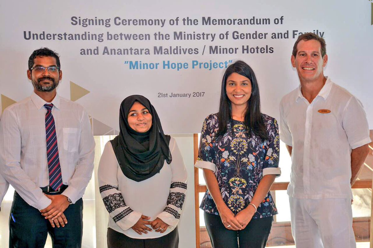 Partnership with Anantara Resort to provide internships for children in Shelters