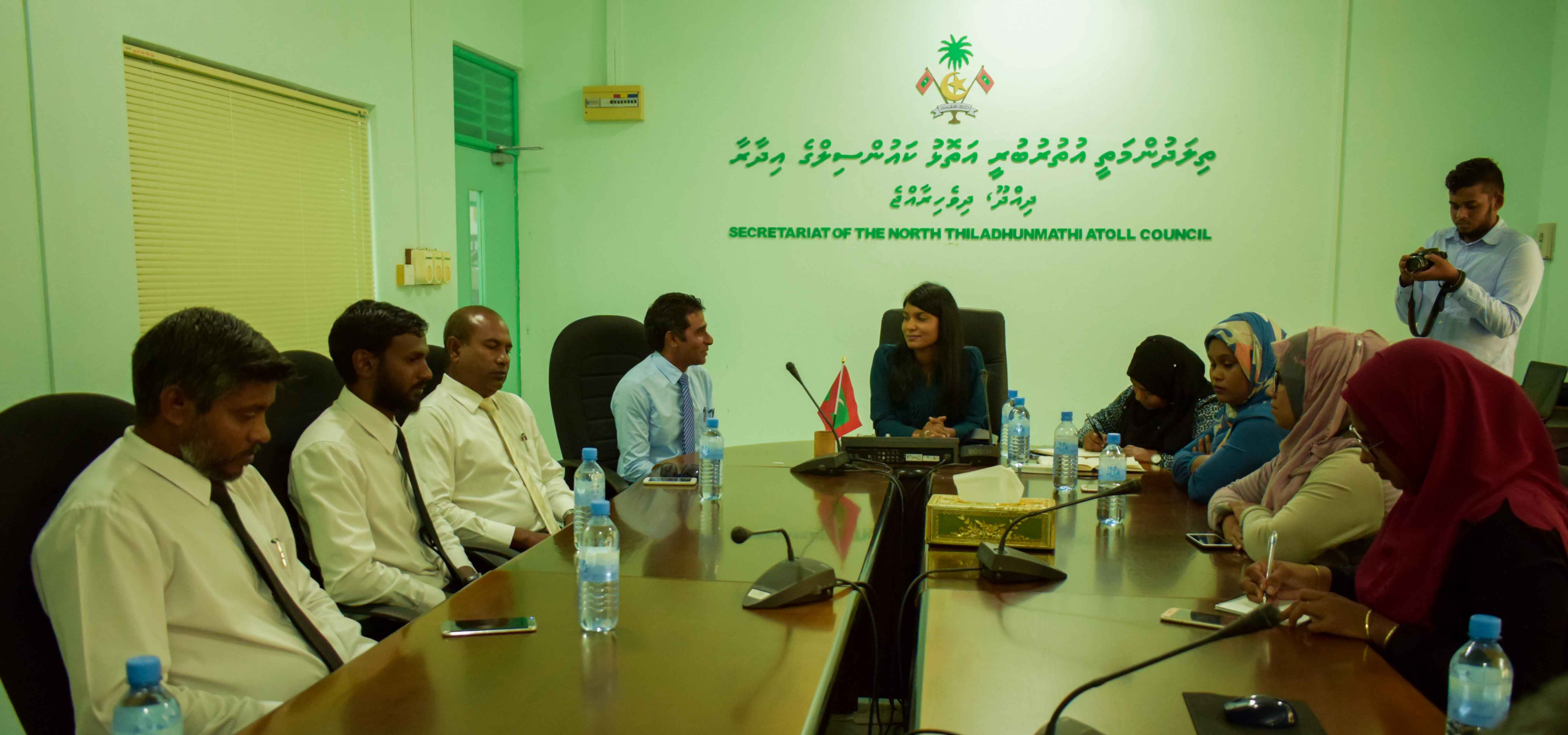 Minister Zenysha's official visit to Ha. Dhidhdhoo