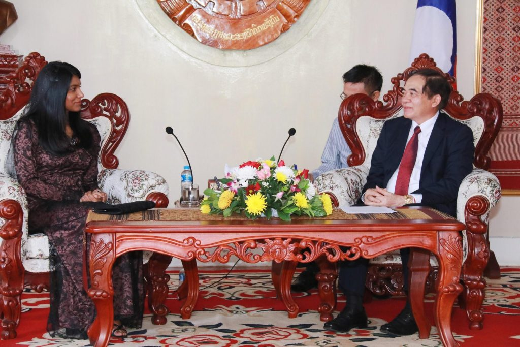 Minister Zenysha's official visit to Lao PDR